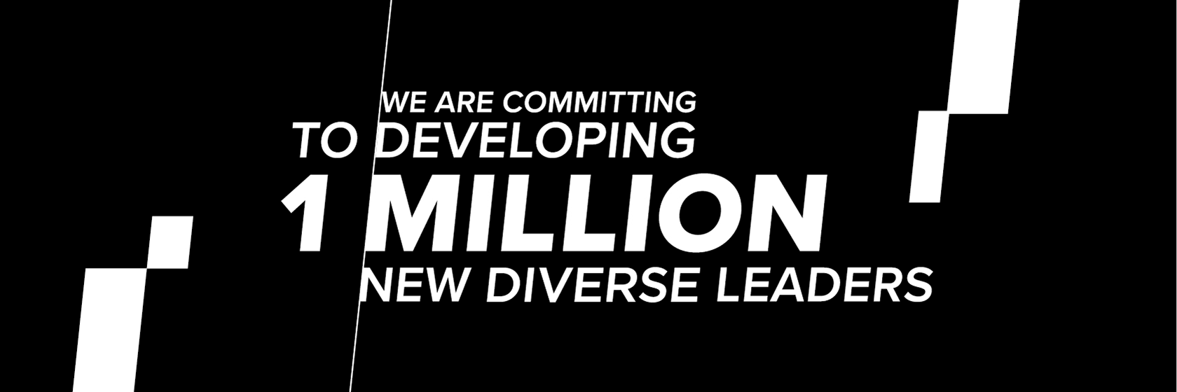 we are committing to developing 1 million new leaders in the next five years